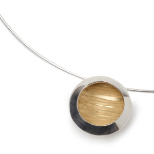 Estuary Large Pendant – Silver and Gold