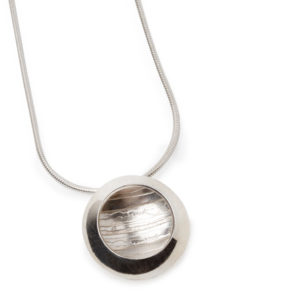 Becca Willing Silver Etched Estuary Pendant, small