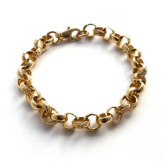 9ct Yellow Gold Bracelet, made from a necklace