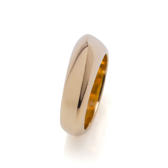 Cuttlefish cast Ring made from recycled gold