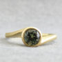 Green Sapphire and yellow gold ring
