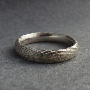 Cuttlefish Cast Silver Ring