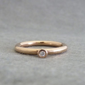 Bud Diamond Engagement Ring, in 9ct Red Gold