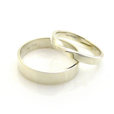 Daisy and Andy's 9ct White Gold Rings